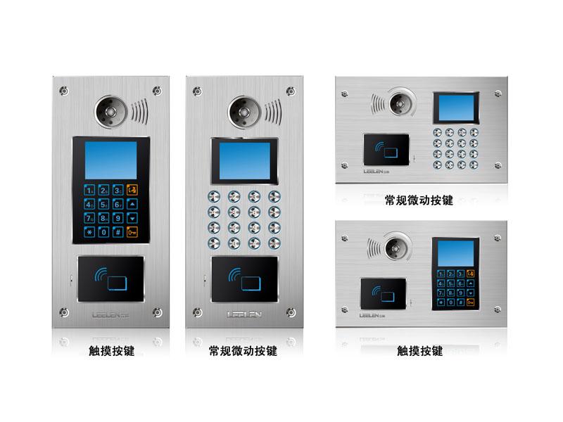 基本功能: 1、可视对讲:可呼叫管理中心机,可呼叫住户并对话; 2、监视功能:住户通过查看梯口,可以监视梯口情况;管理中心通过梯口,可以查看梯口情况; 3、刷卡撤防:内置IC/ID读头,利用刷卡开锁,可对分机的可撤防区进行撤防; 4、锁控功能:住户可刷卡开锁;可密码开锁;访客可呼叫住户开锁;可呼叫管理中心开锁; 5、电梯控制:可与电梯连接,住户可预约电梯; 6、防拆报警:有防暴力拆卸的报警装置,可及时联动报警; 7、信息影音:与小区管理中心联网,可实现语音、视频联网,管理中心通过电脑可播放视频广告等影音文